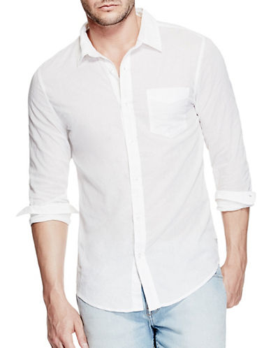 Guess Slim-Fit Liam Shirt-WHITE-X-Large