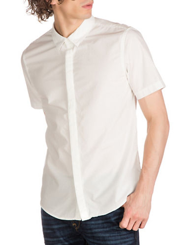 Guess Venice Woven Shirt-WHITE-Medium