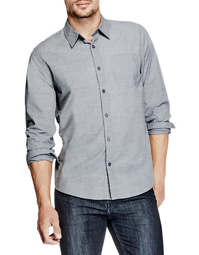 Guess Pacific Striped Shirt-CHARCOAL-Small