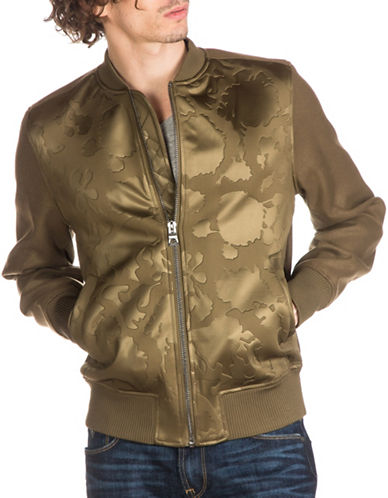 Guess Raid Camo Embossed Bomber Jacket-GREEN-Small 89009166_GREEN_Small