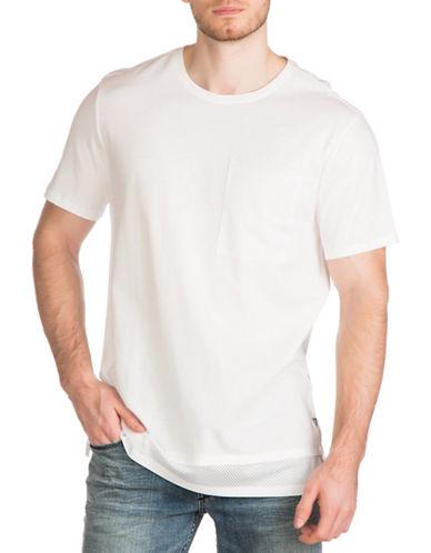 Guess Jordan Mesh Longline Tee-WHITE-Large 89009183_WHITE_Large