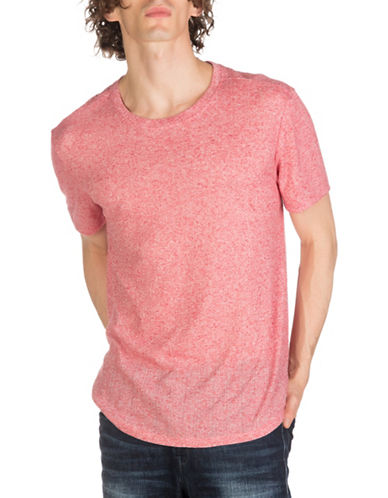 Guess Arc Rib Longline Tee-RED-X-Large