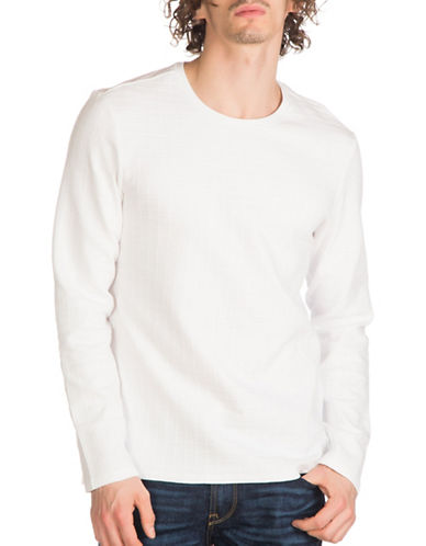 Guess Jet Jacquard Tee-WHITE-Small 89009196_WHITE_Small