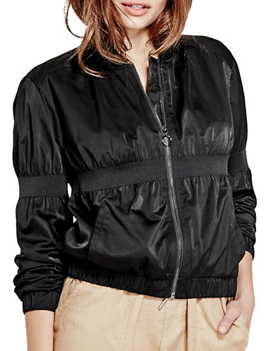 Guess Johnny Bomber Jacket-BLACK-X-Large 89110440_BLACK_X-Large