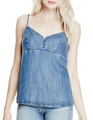 Guess Jordan Strappy Denim Tank Top-BLUE-X-Small 89110386_BLUE_X-Small