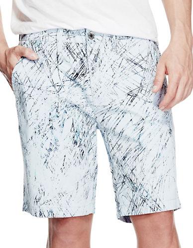 Guess Graffiti Printed Shorts-BLUE-36