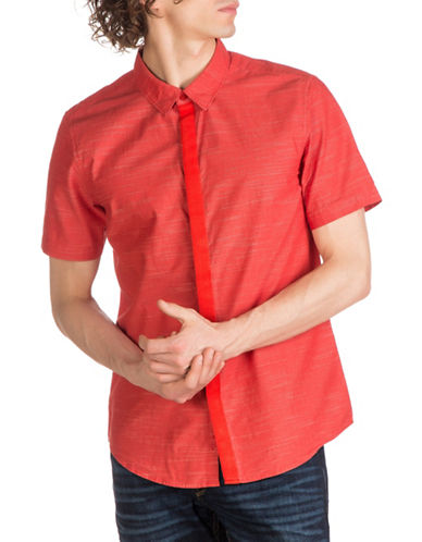 Guess Venice Woven Shirt-RED-X-Large