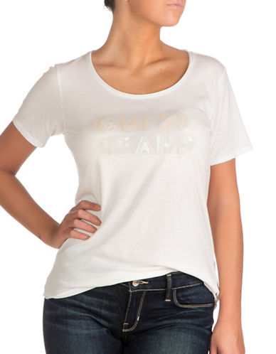 Guess Logo Jeans Easy Tee-WHITE-Small 89143363_WHITE_Small
