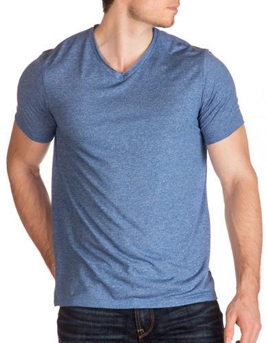 Guess Lash Raw Edge T-Shirt-BLUE-XX-Large