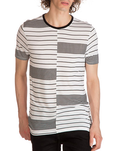 Guess Max Variegated Stripe T-Shirt-BLACK-XX-Large