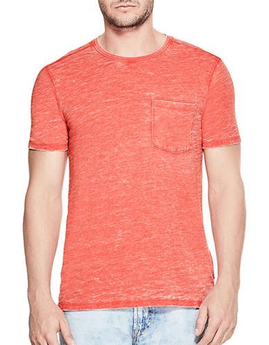 Guess Myer Slub Burnout T-Shirt-ORANGE-Large