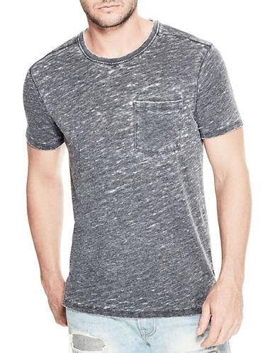 Guess Myer Slub Burnout T-Shirt-BLACK-XX-Large