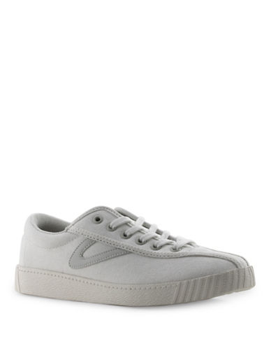 Tretorn Womens Nyliteplus Canvas Sneakers-WHITE-8.5