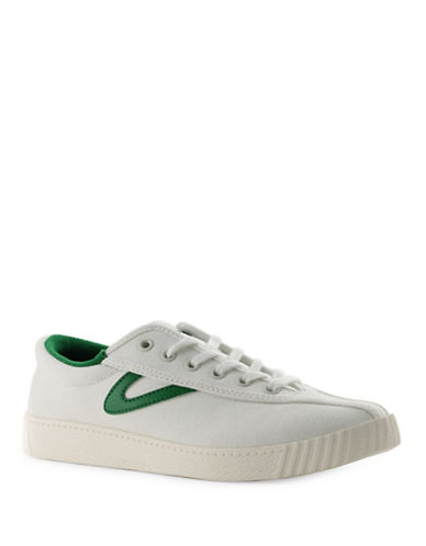 Tretorn Womens Nyliteplus Canvas Sneakers-WHITE/GREEN-9