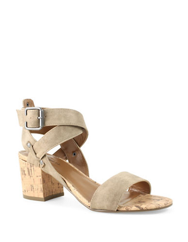 Indigo Rd Elea2 Strappy Faux Suede Block Heel Sandals-BEIGE-9
