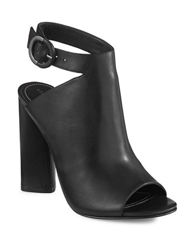 Kendall + Kylie Gigi Suede Open-Toe Sandals-BLACK-9.5