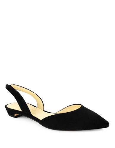 Ivanka Trump Tevelyn  Suede dOrsay Flats-BLACK-7.5