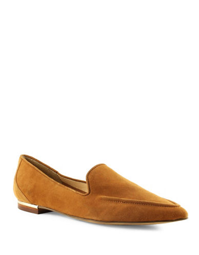 Ivanka Trump Zarina Suede Loafers-BROWN-8.5