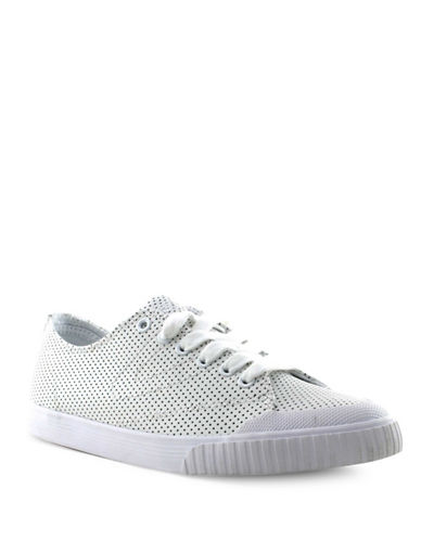 Tretorn Womens Marley Perforated Leather Sneakers-WHITE-8