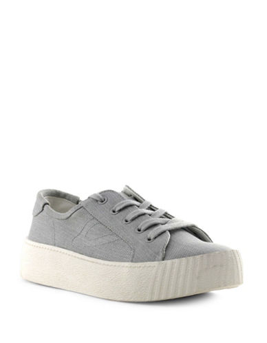 Tretorn Womens Blaire Denim Chunky Sneakers-GREY-7