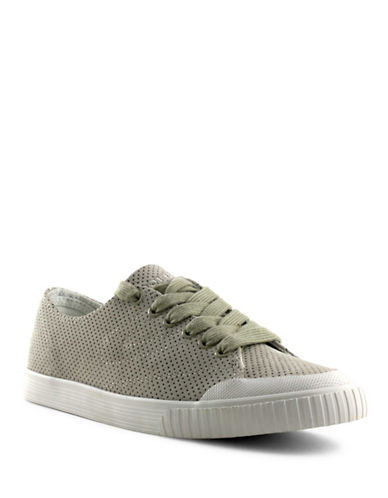 Tretorn Womens Marley Perforated Leather Sneakers-BEIGE-7