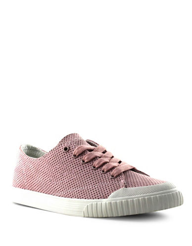 Tretorn Womens Marley Perforated Leather Sneakers-PURPLE-6.5