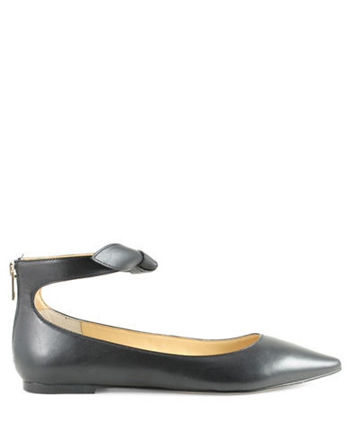 Ivanka Trump Tramory Leather Flats-BLACK-8