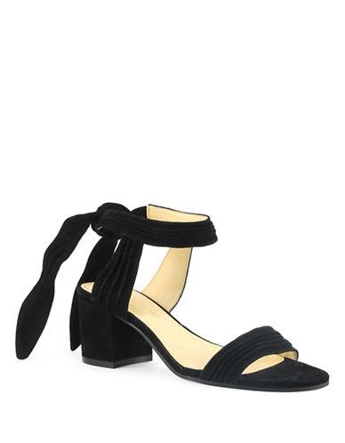 Ivanka Trump Edline Suede Sandals-BLACK-6