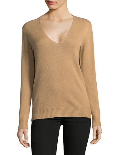 Theory Long Sleeve Cashmere Sweater-BEIGE-X-Small
