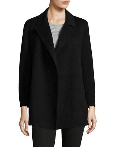 Theory Open Front Peacoat-BLACK-X-Small