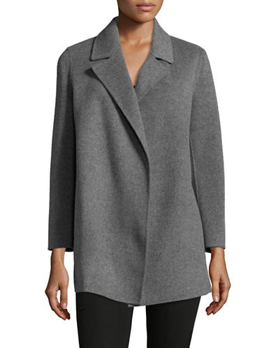 Theory Open Front Peacoat-GREY-X-Small