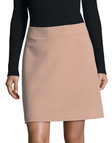 Theory High-Waist Mini Skirt-STONE PINK-00