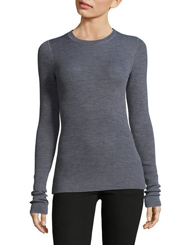 Theory Mirzi B Refine Merino Wool Sweater-GREY-Small