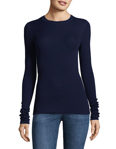 Theory Mirzi B Refine Merino Wool Sweater-BLUE-Large
