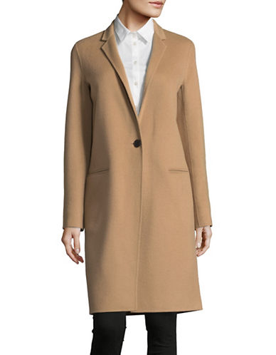 Theory Wool-Cashmere Coat-BEIGE-Large