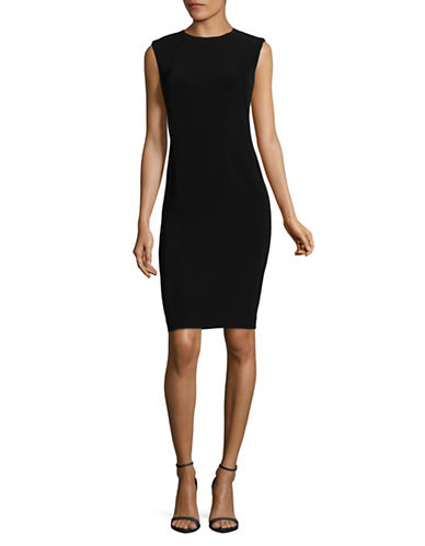 Theory Crepe Power Dress-BLACK-2