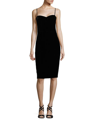 Theory Luxe Bodycon Dress-BLACK-00