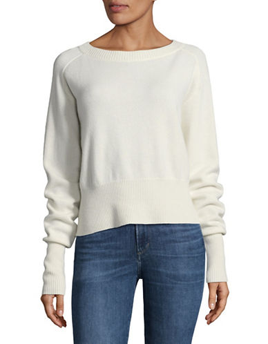 Theory Cashmere Boat Neck Sweater-IVORY-Large