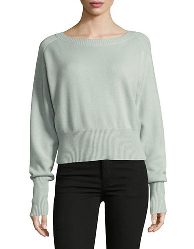 Theory Cashmere Boat Neck Sweater-GREEN-Medium