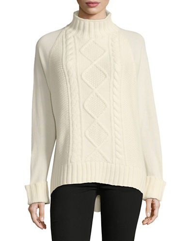 Theory Easy Mock Neck Cable-IVORY-Medium