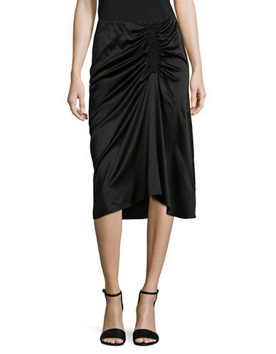 Theory Ruched Midi Skirt-BLACK-6