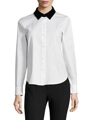 Theory Fancy Button-Down Shirt-WHITE-Medium