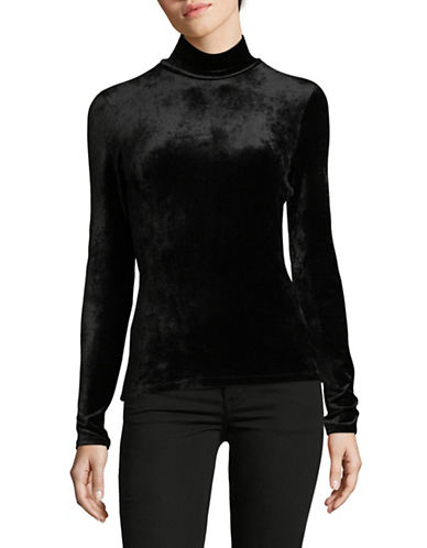 Theory Velvet Turtleneck-BLACK-Small