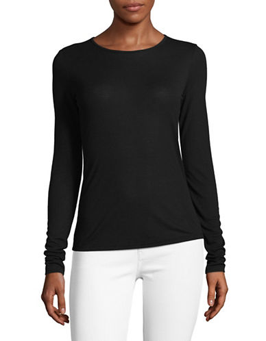 Theory Superslim Long-Sleeve Top-BLACK-X-Small