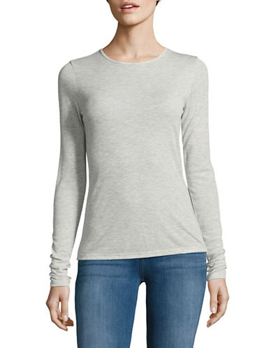 Theory Superslim Long-Sleeve Top-GREY-Small