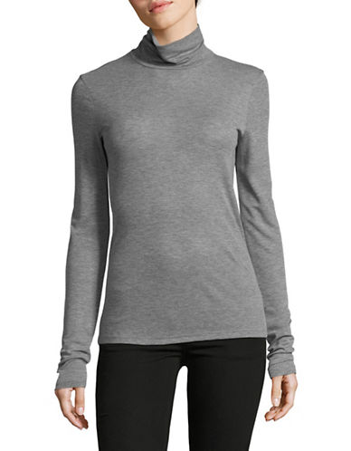 Theory Superslim Turtleneck-GREY-Small