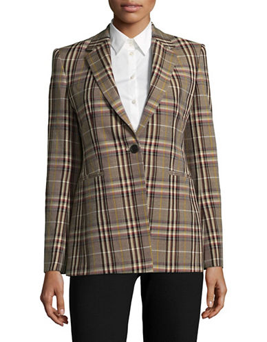 Theory Woven Plaid Suit Jacket-MULTI-2