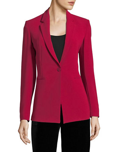 Theory Single-Button Power Blazer-RASPBERRY-00
