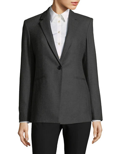 Theory Wool-Blend Power Jacket-CHARCOAL-10