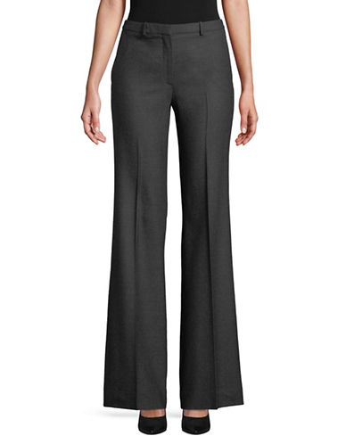Theory Wool-Blend Demitria Pants-CHARCOAL-2